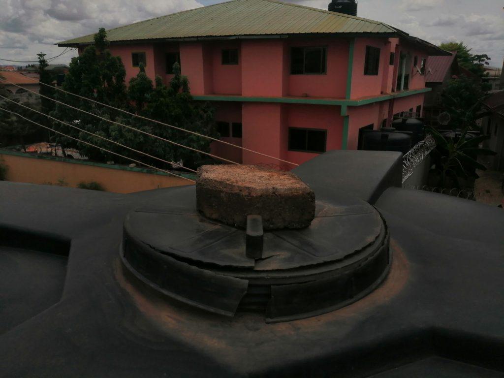 Broken tank cover